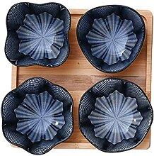 Keramische Dinner-Bowls Set von 4, 4 Zoll Teller