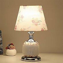 Keramische Lampe, Schlafzimmer Nachttischlampe,