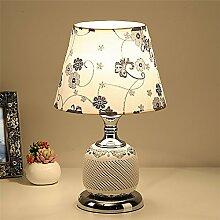 Keramische Lampe, Schlafzimmer Nachttischlampe, einfacher Dekoration, Lampe, LED Lampe, ein Helligkeitsregler