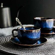 Keramische Porzellan-Blue-Serie Kaffeetasse