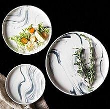 Keramische Runde Platte Und Geschirrtinte Malerei
