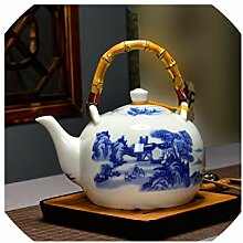 Keramische Teekanne 1500ML große Kapazität blaue