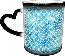 KEROTA Mehofoto Kaffeebecher, blauer Glitzer,