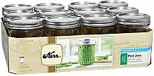 Kerr Weithals-Pint-Glas, 473 ml, mit Deckel und