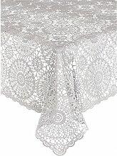 Kersten .1 Tischdecke Croch Pvc Zement 150 x 264 cm