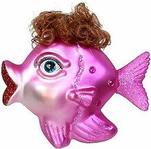 Kersten Christbaum-Anhänger Fischdame 11cm pink