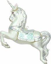 Kersten Christbaumschmuck Einhorn 12cm weiß Silber
