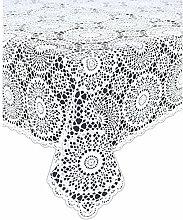 KERSTEN Tischdecke Croch Pvc 137 x 180 cm weiß