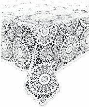 Kersten Tischdecke Croch Pvc 150 x 264 cm weiß