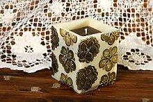 Kerze aus Paraffin handgemachte Kerze Vintage Dekoration Geschenk Ideen