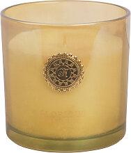 Kerze im Glas, bernsteinfarben