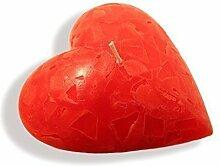 Kerze in bauchiger Herzform Herzkerze Herz Liebe