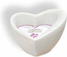 Kerze Kerzentopf Herz - Herzform - Hochzeit Liebe