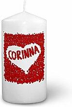 Kerze mit Namen Corinna - Fotokerze mit Design