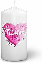 Kerze mit Namen Miriam - Fotokerze mit Design