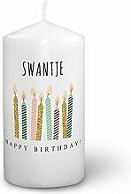Kerze mit Namen Swantje - Fotokerze mit Design
