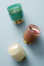 Kerze mit vergoldeter Verzierung - Cream