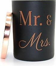 Kerze MR & MRS Aromatica in Vorratsglas schwarz