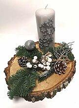 Kerze Weihnachtsgesteck Advent Weihnachten