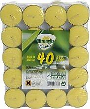 Kerze Zitronengras + Schale Alu 40pièces