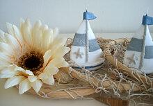 Kerzen & Leuchten - Maritime Kerze Segelboot