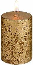 Kerzen Rustic 8cm, 5.8x8.0cm (DxH), gold, rund,