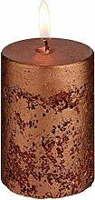 Kerzen Rustic 8cm, 5.8x8.0cm (DxH), kupfer, rund,