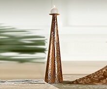 Kerzenhalter 'Hammerschlag', 60 cm, kupfer