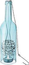 Kerzenhalter Bottle, blau