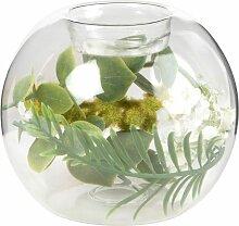 Kerzenhalter Glasgefäß mit künstlichem