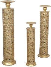 Kerzenhalter in Goldfarben orientalischen Design