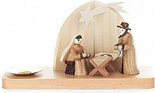 Kerzenhalter mit Christi Geburt - 8cm - Dregeno