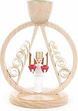 Kerzenhalter mit Engel im Ring - 7cm - Dregeno
