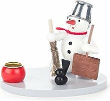 Kerzenhalter mit Schneemann und Schippe - 7cm -
