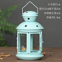 Kerzenhalter Ornamente retro Einrichtung Heimtextilien Kerze, Schale, groß, blau