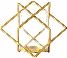 Kerzenleuchter Schmiedeeisen Tisch geometrisch