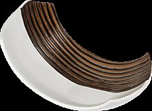 Kerzenschale, Teller WOOD L. 30cm Holzoptik braun weiß Keramik Formano (22,90 EUR / Stück)