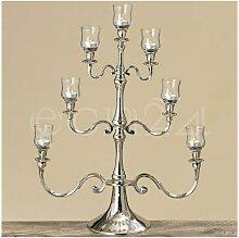 Kerzenständer 7 flammig 69cm & Glas Teelichthalter
