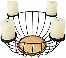 Kerzenständer Adventskranz Metall rund Ø44xH16cm
