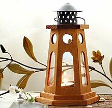 Kerzenständer,Europäische Holz Wind Lampe