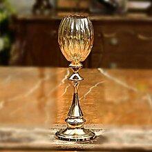Kerzenständer,Europäische Kristall Glas Metall