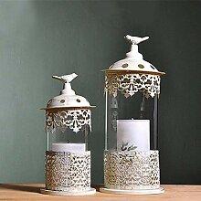 Kerzenständer,Geschnitzte Eisen Glas Kerze