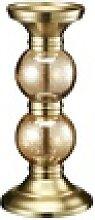 Kerzenständer ¦ gold ¦ Glas , Edelstahl,