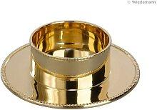 Kerzenständer Gold mit Perlrand poliert 50 mm