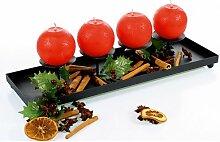 Kerzentablett 40 cm Advent Kerzenständer
