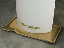 Kerzenteller Kerzenständer Kerzenhalter für Hochzeitskerze Taufkerze silber gold 16547, Farbe:gold