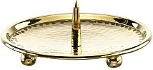 Kerzenteller mit Dorn Gold 10 cm