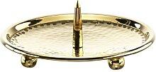 Kerzenteller mit Dorn Gold 8 cm