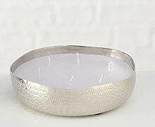 Kerzentopf Justine D18cm silber Aluminium