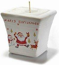Kerzentopf Kerze im Keramiktopf Weihnachtskerze